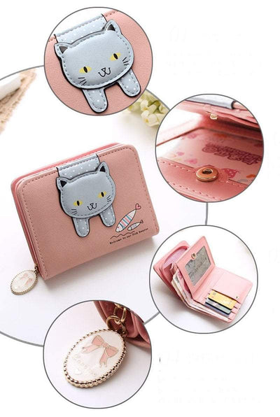 Hanging Cat Mini Purse - GOTAMOCHI KPOP BTS MERCH KAWAII Shop - Wallets