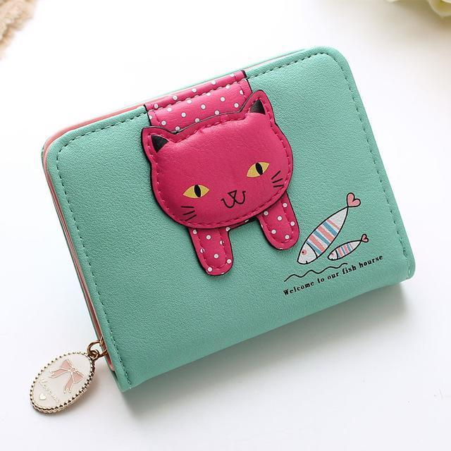 Hanging Cat Mini Purse Green Gotamochi BTS MERCH BT21 MERCH KAWAII STORE