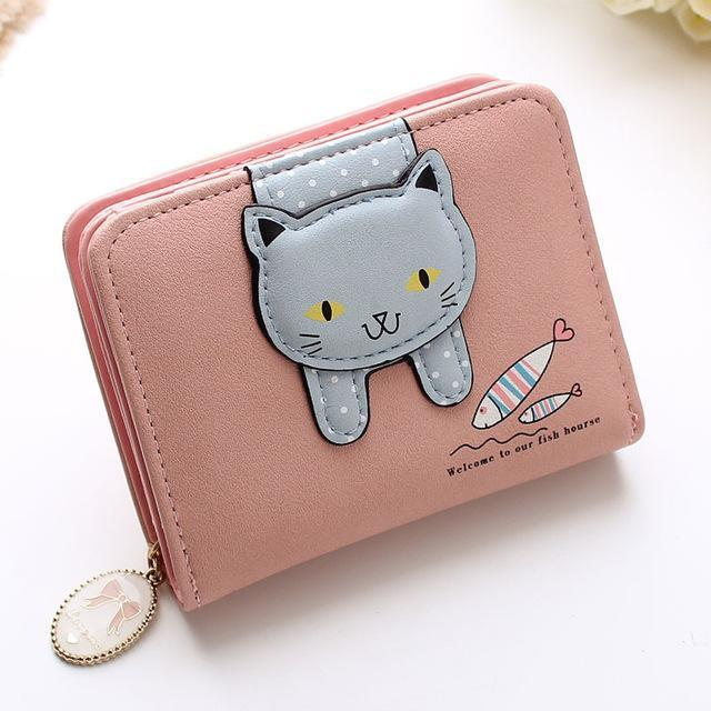 Hanging Cat Mini Purse Pink Gotamochi BTS MERCH BT21 MERCH KAWAII STORE