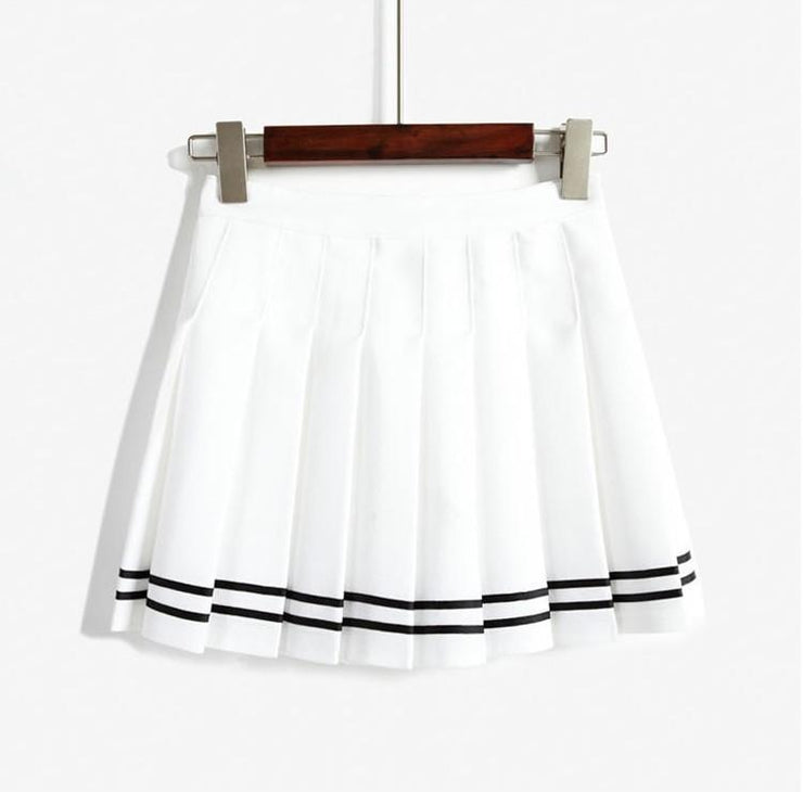 Harajuku Japanese Pleated High Waist Skirt [3 Colors] Bai / L Gotamochi BTS MERCH BT21 MERCH KAWAII STORE