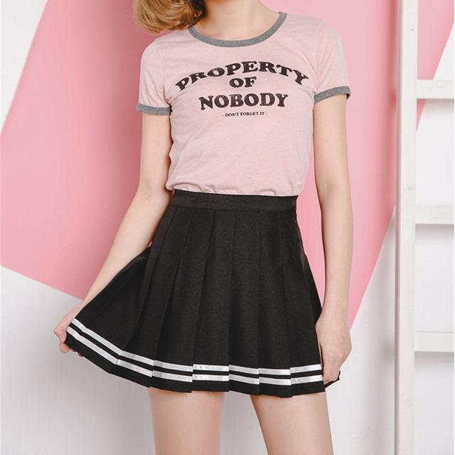 Harajuku Japanese Pleated High Waist Skirt [3 Colors] Hei / L Gotamochi BTS MERCH BT21 MERCH KAWAII STORE