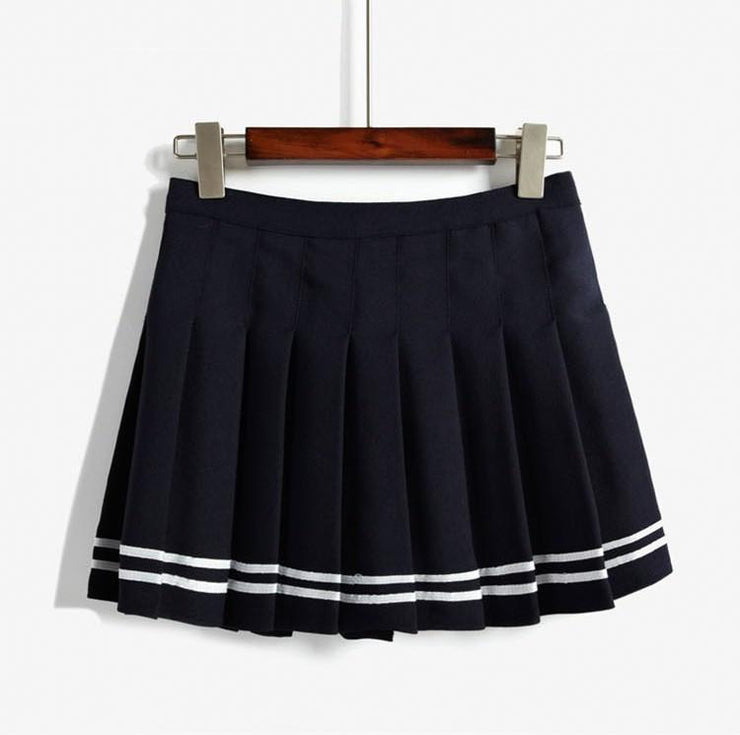 Harajuku Japanese Pleated High Waist Skirt [3 Colors] Gotamochi BTS MERCH BT21 MERCH KAWAII STORE