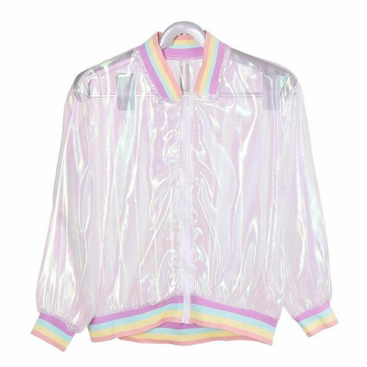 Holo Unicorn Skin Bomber Gotamochi BTS MERCH BT21 MERCH KAWAII STORE