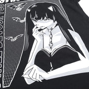I Will Devour You Vampire Goth Girl T-Shirt Harajuku Streetwear Gotamochi BTS MERCH BT21 MERCH KAWAII STORE
