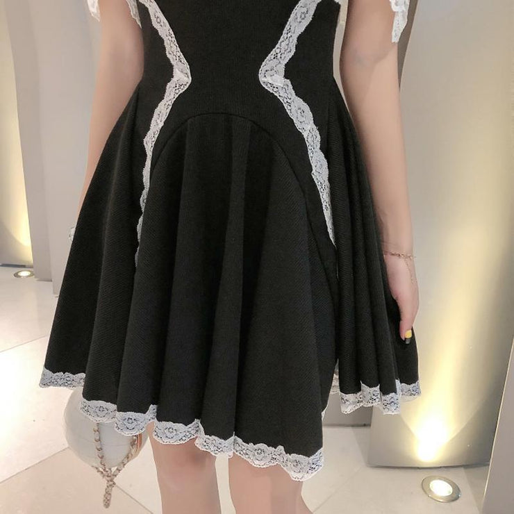 Japanese High Waist Lace Party Dress Kawaii Mini Gotamochi BTS MERCH BT21 MERCH KAWAII STORE