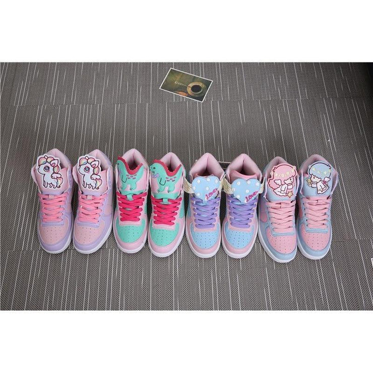 Japanese Sweet Lolita Cartoon Shoes Kawaii Sneakers Gotamochi BTS MERCH BT21 MERCH KAWAII STORE