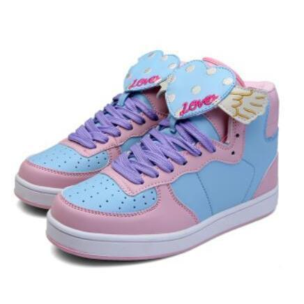 Japanese Sweet Lolita Cartoon Shoes Kawaii Sneakers Heart / 35 Gotamochi BTS MERCH BT21 MERCH KAWAII STORE