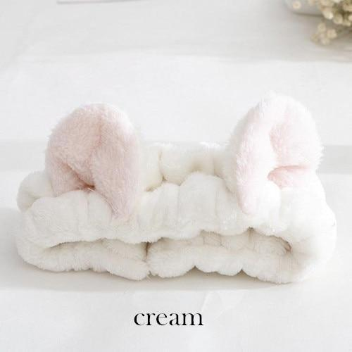 Kawaii Cat Ear Hairband Cream Gotamochi BTS MERCH BT21 MERCH KAWAII STORE