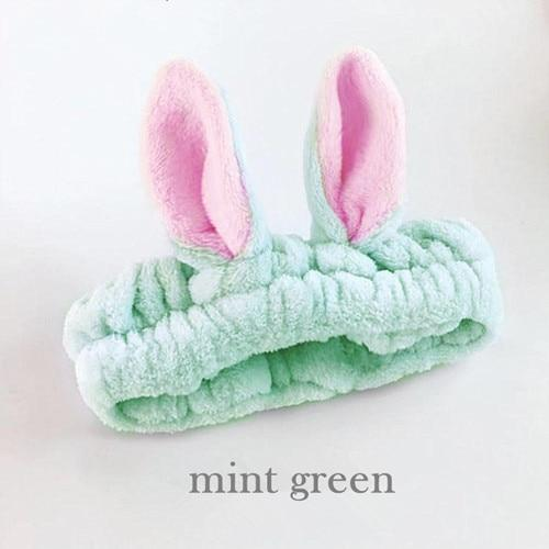 Kawaii Cat Ear Hairband Mint green Gotamochi BTS MERCH BT21 MERCH KAWAII STORE