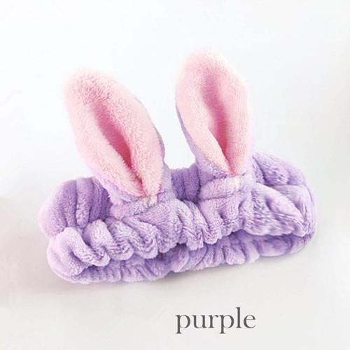 Kawaii Cat Ear Hairband Purple Gotamochi BTS MERCH BT21 MERCH KAWAII STORE