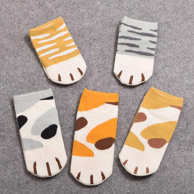 Kawaii Neko Cat Paw Socks Gotamochi BTS MERCH BT21 MERCH KAWAII STORE