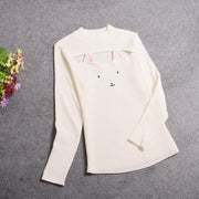 Kawaii Neko Hollow Chest Sweater White / One Size Gotamochi BTS MERCH BT21 MERCH KAWAII STORE