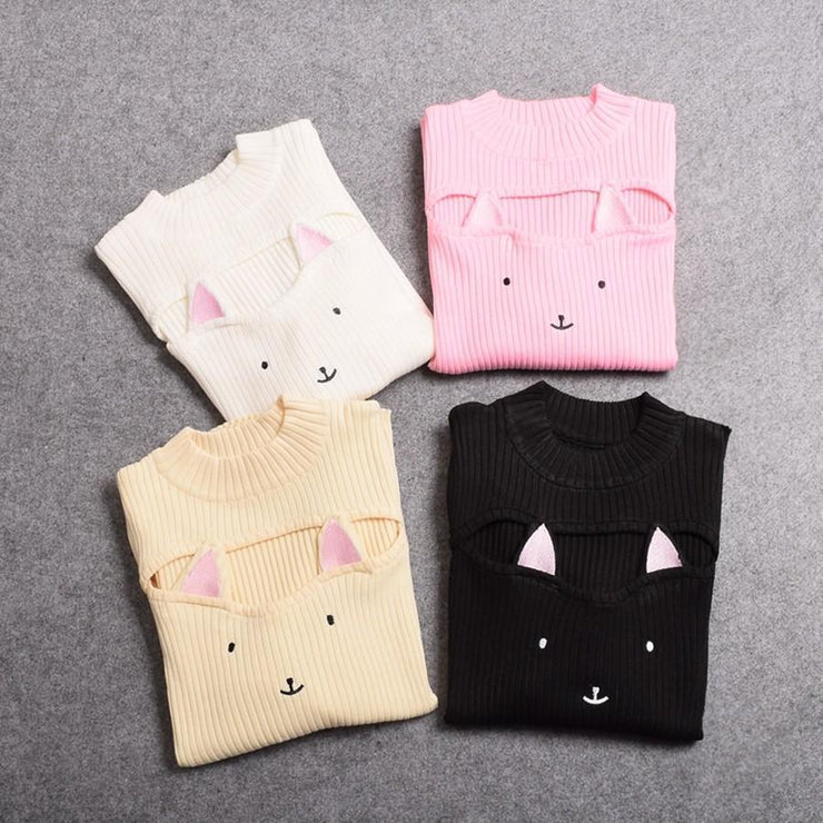 Kawaii Neko Hollow Chest Sweater Gotamochi BTS MERCH BT21 MERCH KAWAII STORE