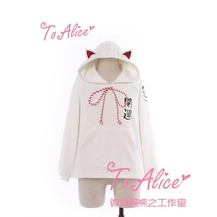Kawaii To Alice Cat Ears Hoodie Sweatshirt / Dress [2 Styles] White Hoodie / S Gotamochi BTS MERCH BT21 MERCH KAWAII STORE