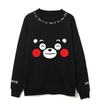 Kumamon Agust D Sweater - GOTAMOCHI KPOP BTS MERCH KAWAII Shop - Hoodies & Sweatshirts