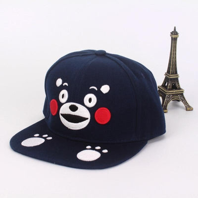 Kumamon Bear Snapback - GOTAMOCHI KPOP BTS MERCH KAWAII Shop - Baseball Caps