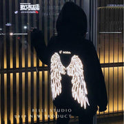 Luminous Angel Wings Hoodie Harajuku Sweatshirt Gotamochi BTS MERCH BT21 MERCH KAWAII STORE