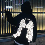 Luminous Angel Wings Hoodie Harajuku Sweatshirt S Gotamochi BTS MERCH BT21 MERCH KAWAII STORE