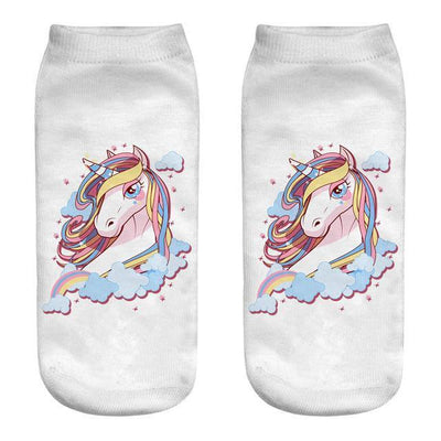 Magical Unicorn Ankle Socks 15 Gotamochi BTS MERCH BT21 MERCH KAWAII STORE