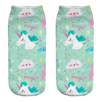 Magical Unicorn Ankle Socks 18 Gotamochi BTS MERCH BT21 MERCH KAWAII STORE