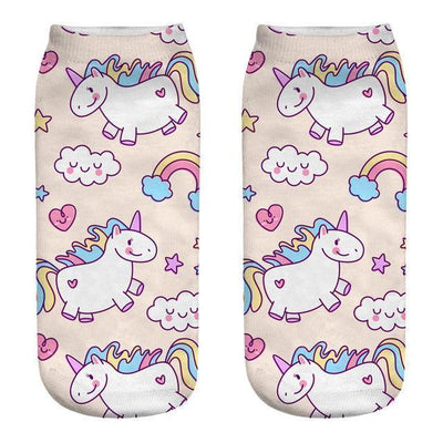 Magical Unicorn Ankle Socks 5 Gotamochi BTS MERCH BT21 MERCH KAWAII STORE