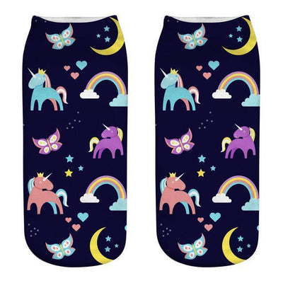 Magical Unicorn Ankle Socks 7 Gotamochi BTS MERCH BT21 MERCH KAWAII STORE