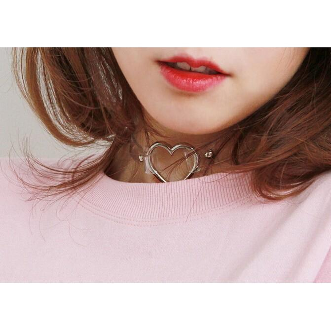 Menhera Yami Kawaii Goth Heart Ring Choker [10 Colors] Gotamochi BTS MERCH BT21 MERCH KAWAII STORE