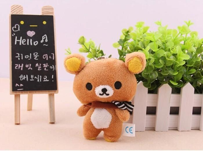 Mini Rilakkuma Plush Toy Brown Gotamochi BTS MERCH BT21 MERCH KAWAII STORE