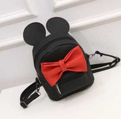 Minnie Leather Backpack - GOTAMOCHI KPOP BTS MERCH KAWAII Shop - Backpacks
