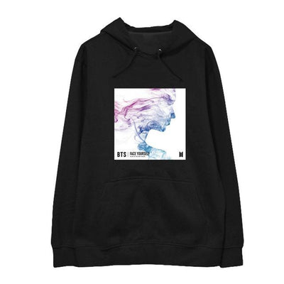NEW BTS Face Yourself Long Sleeve Concert Hoodie black / S Gotamochi BTS MERCH BT21 MERCH KAWAII STORE