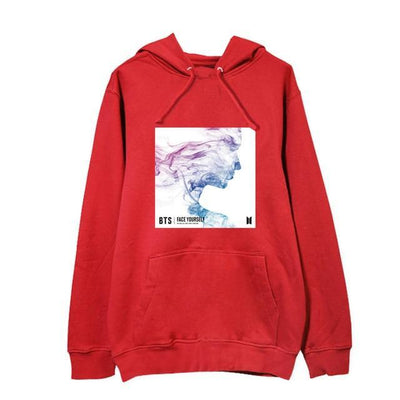 NEW BTS Face Yourself Long Sleeve Concert Hoodie red / S Gotamochi BTS MERCH BT21 MERCH KAWAII STORE