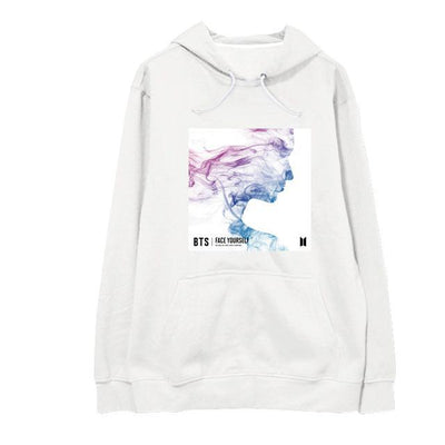 NEW BTS Face Yourself Long Sleeve Concert Hoodie white / S Gotamochi BTS MERCH BT21 MERCH KAWAII STORE