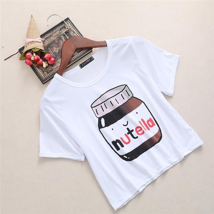 Nutella Crop Top One Size Gotamochi BTS MERCH BT21 MERCH KAWAII STORE