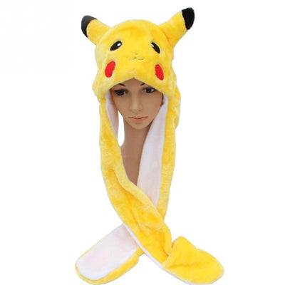Pikachu Hat Scarf - GOTAMOCHI KPOP BTS MERCH KAWAII Shop - Skullies & Beanies