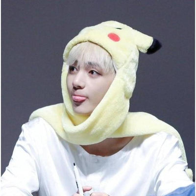 Pikachu Hat Scarf Gotamochi BTS MERCH BT21 MERCH KAWAII STORE
