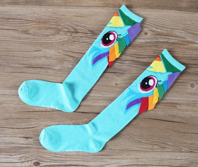 Rainbow Dash Long Socks Gotamochi BTS MERCH BT21 MERCH KAWAII STORE
