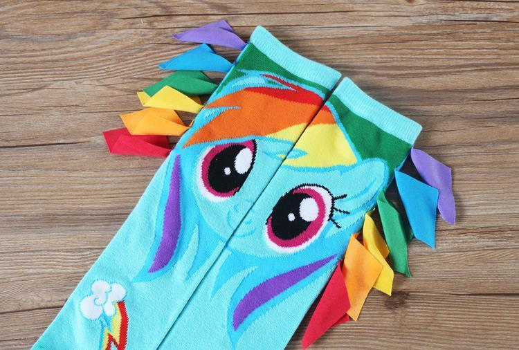 Rainbow Dash Long Socks - GOTAMOCHI KPOP BTS MERCH KAWAII Shop - Boys Costume Accessories