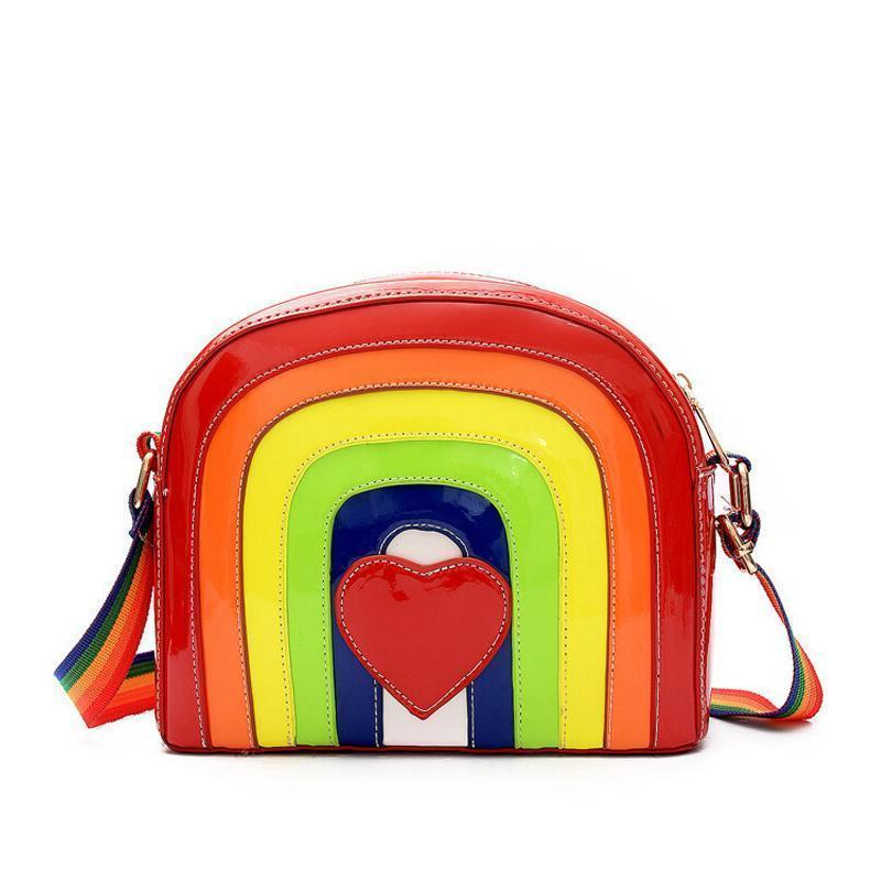Rainbow Harajuku Crossbody Bag Gotamochi BTS MERCH BT21 MERCH KAWAII STORE