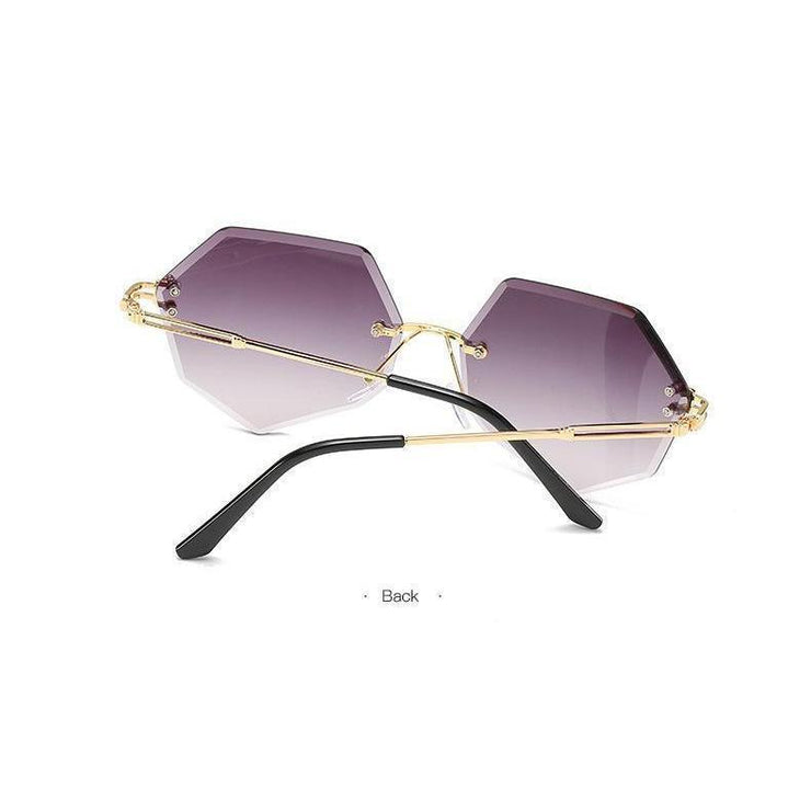 Rimless Gradient Sunglasses Korean Fashion Eyewear Gotamochi BTS MERCH BT21 MERCH KAWAII STORE