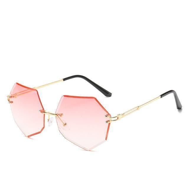 Rimless Gradient Sunglasses Korean Fashion Eyewear Gradient Pink Gotamochi BTS MERCH BT21 MERCH KAWAII STORE