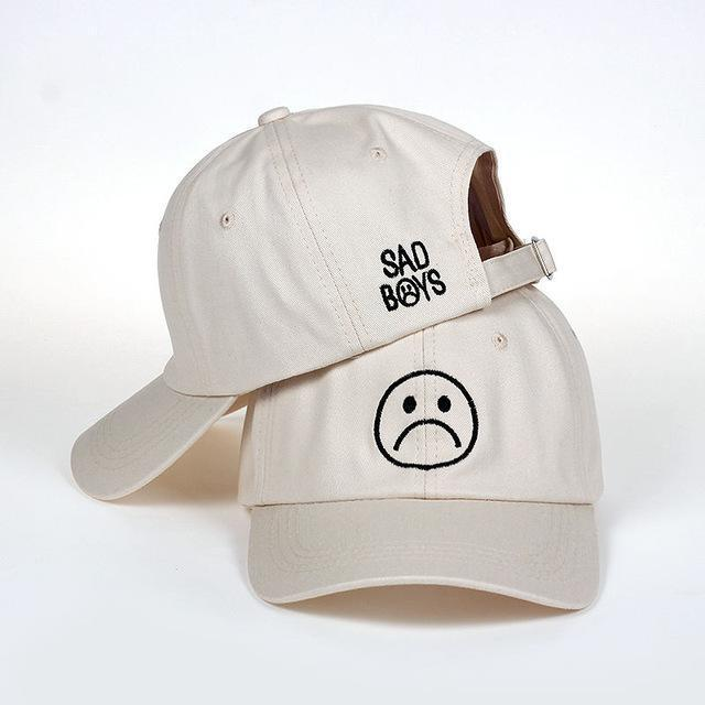 Sad Boys Cap Beige Gotamochi BTS MERCH BT21 MERCH KAWAII STORE