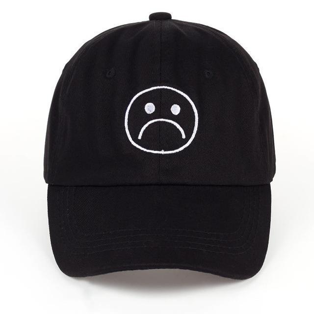 Sad Boys Cap Black Gotamochi BTS MERCH BT21 MERCH KAWAII STORE