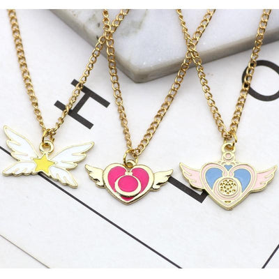 Sailor Moon Charm Necklace - GOTAMOCHI KPOP BTS MERCH KAWAII Shop - Pendant Necklaces