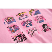 Sailor Moon T-Shirt Harajuku Cartoon Top Gotamochi BTS MERCH BT21 MERCH KAWAII STORE