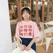 Sailor Moon T-Shirt Harajuku Cartoon Top Pink / M Gotamochi BTS MERCH BT21 MERCH KAWAII STORE