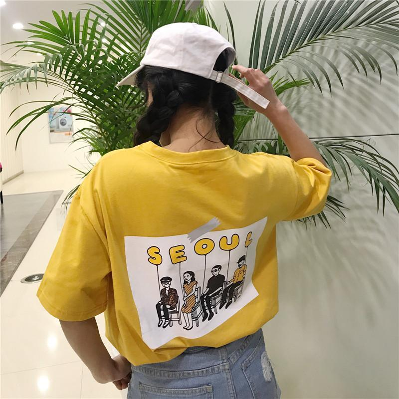 Seoul Balloon Tee Gotamochi BTS MERCH BT21 MERCH KAWAII STORE