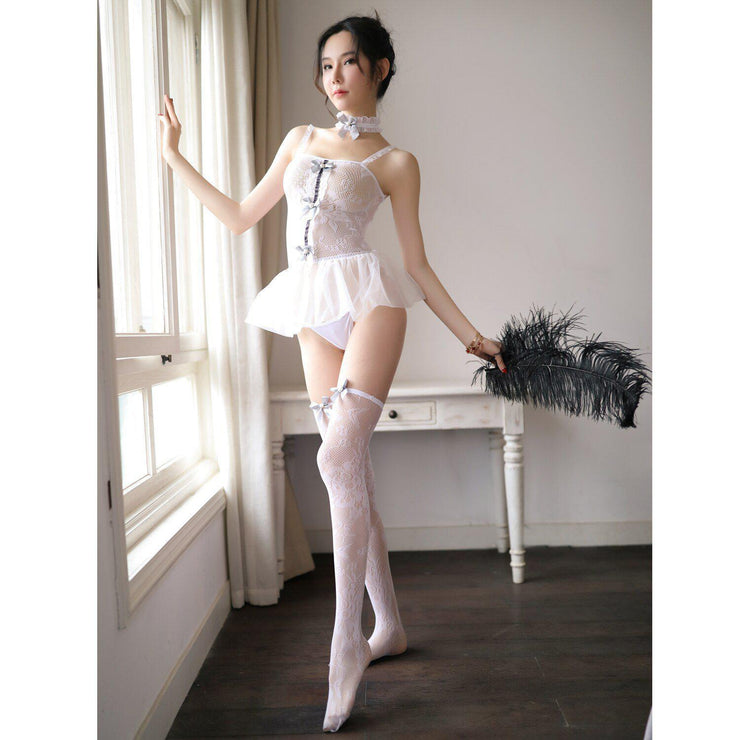 Sexy Babydoll Mini Short Dress Cosplay Lingerie Gotamochi BTS MERCH BT21 MERCH KAWAII STORE