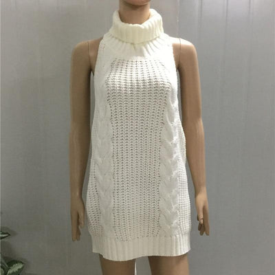 Sexy Virgin Killer Sweater Dress - GOTAMOCHI KPOP BTS MERCH KAWAII Shop -
