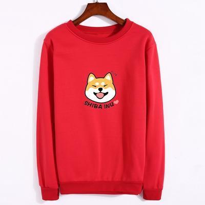Shiba Inu Pullover red / M Gotamochi BTS MERCH BT21 MERCH KAWAII STORE