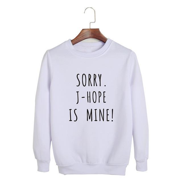 Sorry, BTS is Mine! Pullover JHOPE White / S Gotamochi BTS MERCH BT21 MERCH KAWAII STORE